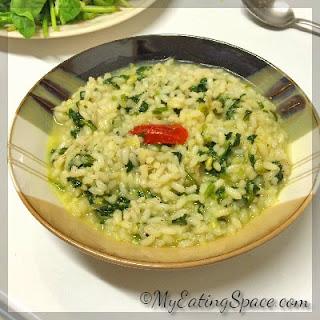 Congee Rice Porridge with Spinach Recipe