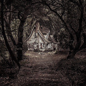 Hansel and Gretel by Curtis Jones - Landscapes Travel ( creepy house, woods, photoshop )