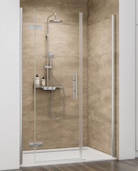 Porte de douche pivotante en niche, 140, 160 ou 180 cm, grand large