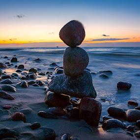Rozewie, Poland by Paweł Mielko - Landscapes Beaches ( baltic sea, scape, sunsets, sunset, sea, rozewie, landscape, rocks, baltic, poland,  )