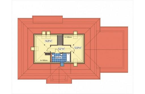Sielanka II 35st. wersja B z podwójnym garażem - Rzut poddasza
