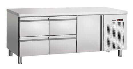 Kylbänk 4 draglådor + 1 dörr GN 1/1<BR> S4T1-150, Bartscher