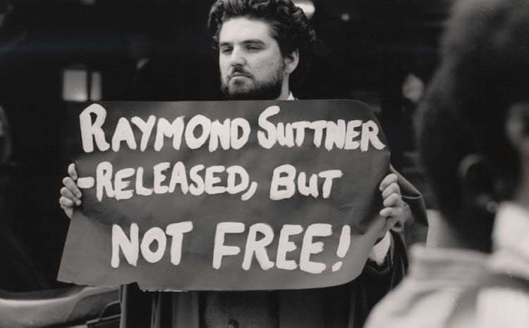 A protest in support of Raymond Suttner released from detention in 1988 by apartheid authorities. Picture: ROBERT BOTHA