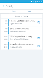 Skype for Business for Android - náhled