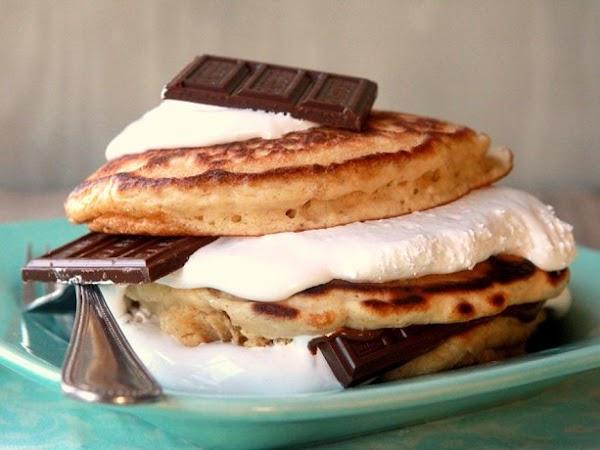 Smores Stacker Pancakes Recipe