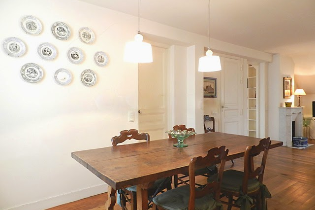 Dining space at Saint Germain apartment