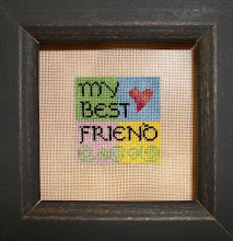 Photo: Completed 11 December 2010. My Best Friend (2010) by Ericka Michaels. Stitched on 40ct silk gauze using leftovers from my stash.