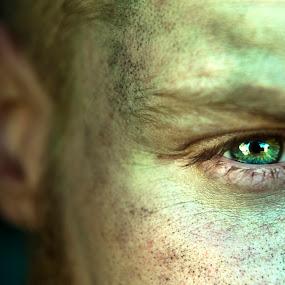 His Eyes by Irvin Kelly - People Portraits of Men ( men, portraits, eyes )