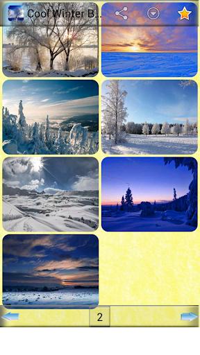 クールな冬の背景