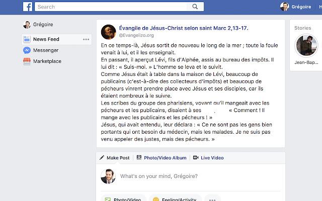 L'évangile dans Facebook