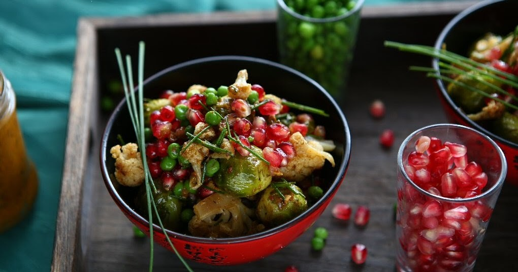 Moroccan-Spiced Roasted Brussels Sprouts and Cauliflowers