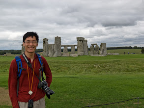 Photo: We drove to Stonehenge after Canterbury. Pleased to be at Stonehenge