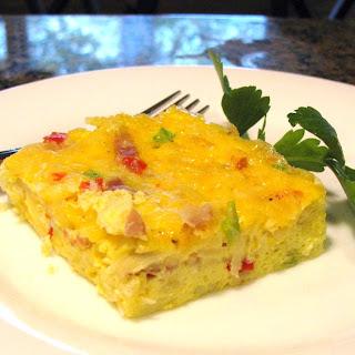 Prosciutto, Cheese And Potato Egg Bake
