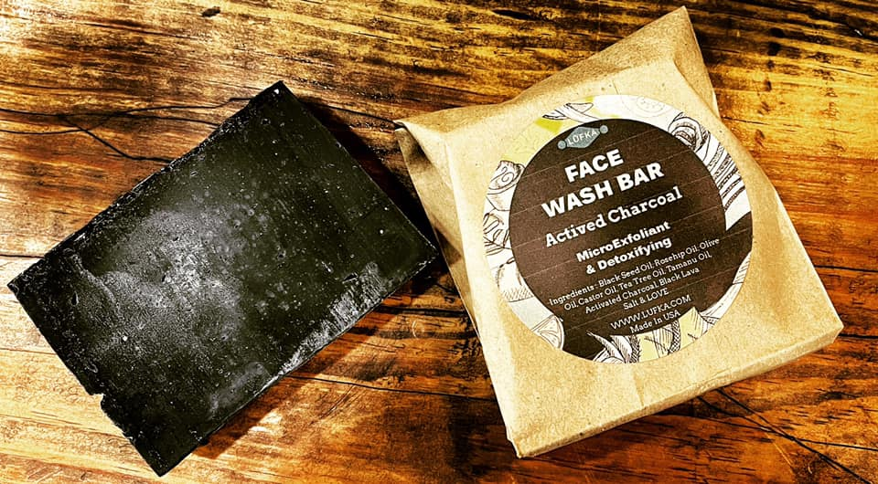 Bulk soap using eco-friendly recycled paper packaging available at Lufka Refillables Zero Waste Store