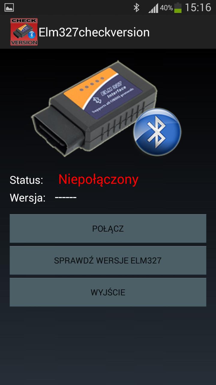 Скриншот Elm327 Check Version