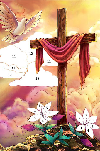 Bible Coloring - Paint by Number, Free Bible Games 2.5.2 screenshots 18