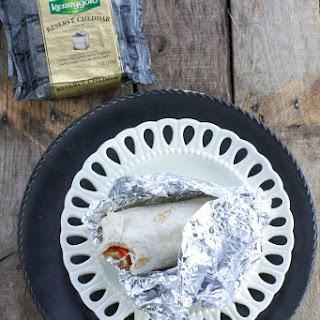 Cheesy Chicken Quinoa Burritos.