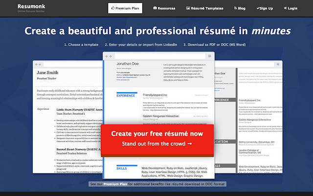 Image Name: Online Resume/CV Maker & Beautiful Resume Templates