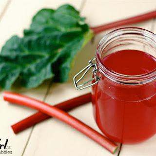 Ruby Rhubarb Syrup.