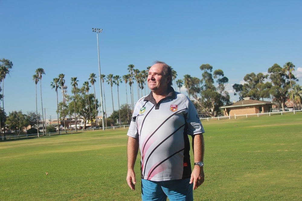 David Rooney stands out in the middle at Collins Park, reflecting upon his wonderful refereeing experiences.