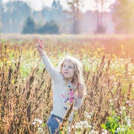 Annalise by Jenny Hammer - Babies & Children Children Candids ( fall, pumpkin patch, girl, cute, sun, child )