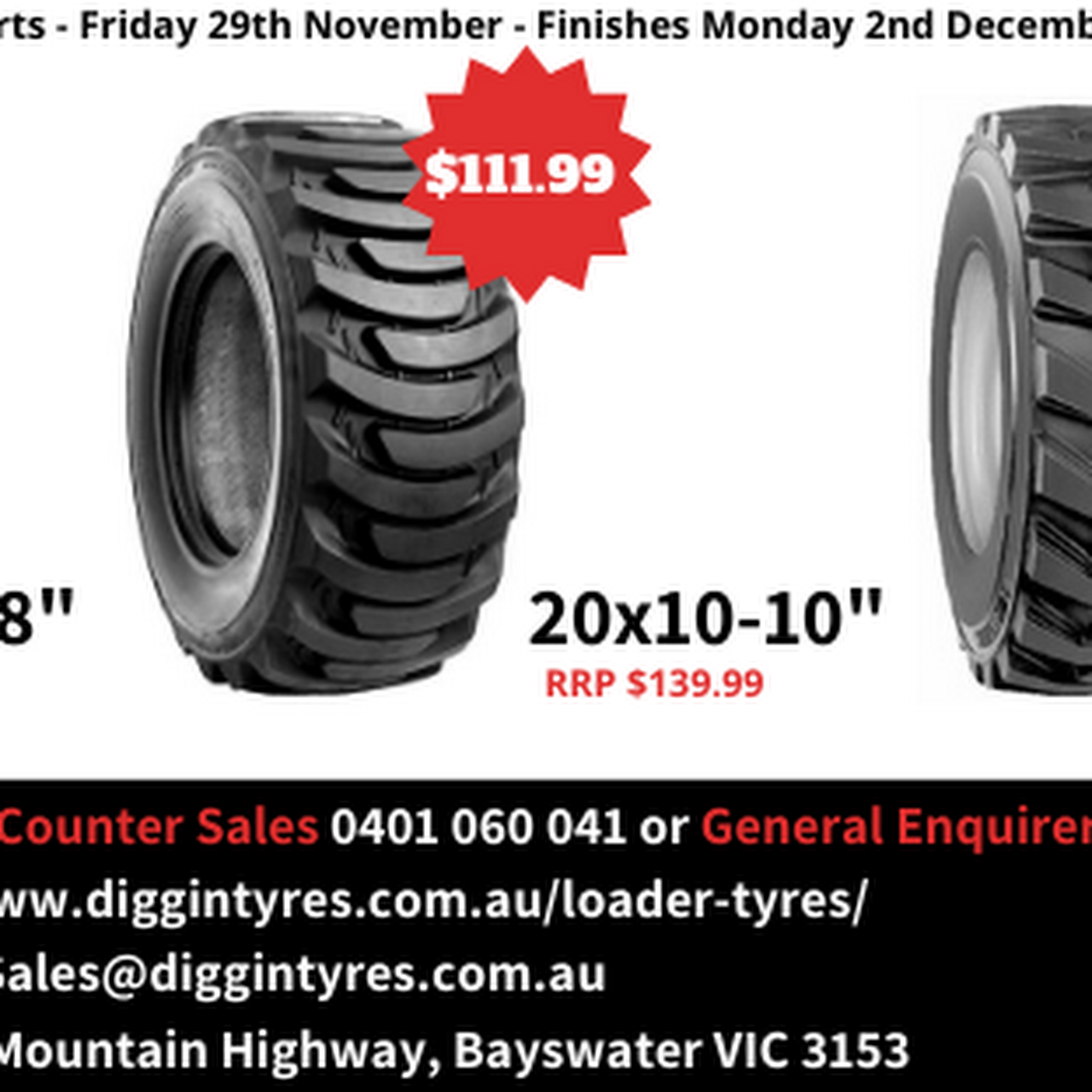 Diggin Tyres - Mini Loader/Bobcat Tyres