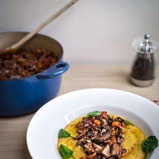 Mushroom Ragu with Creamy Polenta Recipe