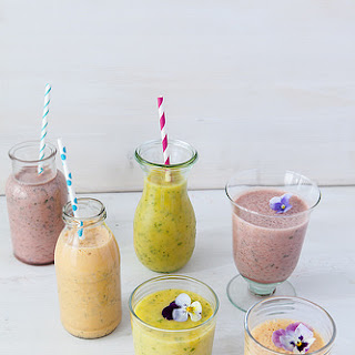 Summer Herb and Fruit Smoothies.
