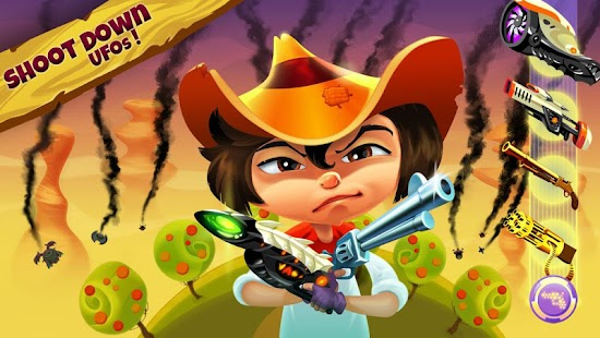 Cowboys vs UFO: Alien shooter Screenshot