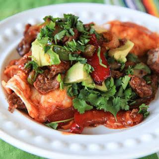 Steak Fajita Enchiladas.