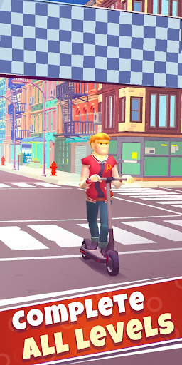Scooter Ride — obstacle course game - screenshot