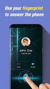 Fingerprint style call screen theme, caller ID App Download For Android 1