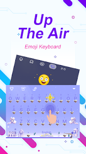 Up The Air Theme&Emoji Keyboard - náhled