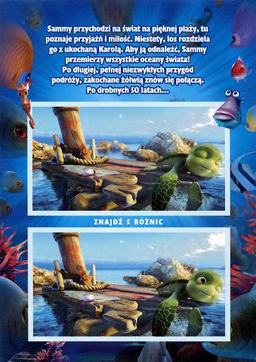 Tył ulotki filmu 'Żółwik Sammy: W 50 Lat Dookoła Świata'