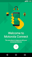 screenshot of Motorola Connect