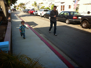 Photo: Finn and Uncle James Race