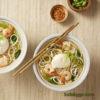 Egg-topped Asian Noodle Soup