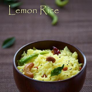 South Indian Lemon Rice / Nimbu Chawal