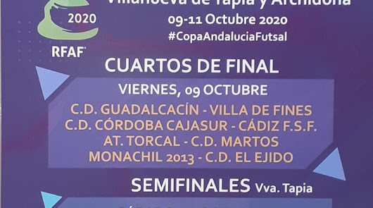Villa de Fines y CD El Ejido en la Copa de Andalucía Futsal