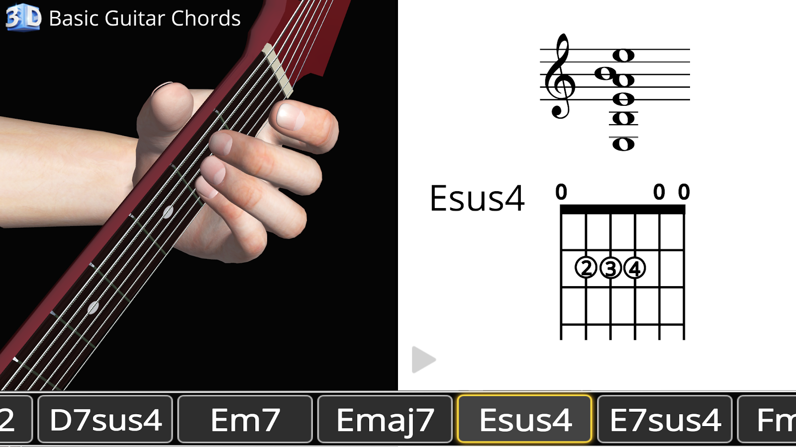 Basic guitar chords 3d android apps on google play basic guitar chords 3d screenshot hexwebz Gallery