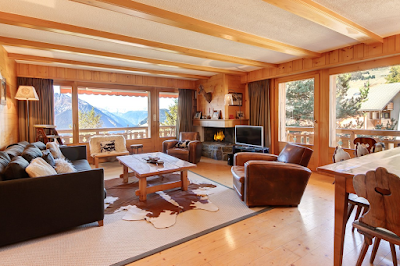 A Traditional Alpine Residence With a Super Sunny Terrace