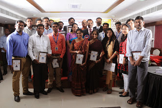 Photo: Group Photograph of Awardees with Prof. Dr. R. Ganesan, Chairman, NFED, Chief Guests, Dr. V. Padmavathy, Mr. A. Devi Dutt   and Guest of Honour, Mr. Bobby A. Mathew