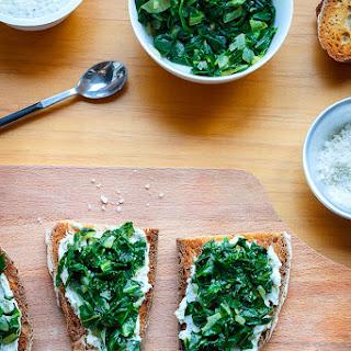 Sauteed Swiss Chard Toasts