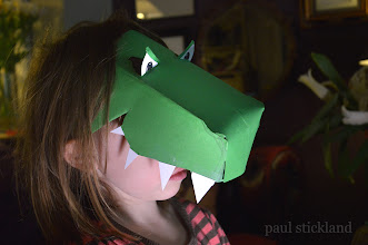 Photo: Uh-oh!  Daughter's turned into a dinosaur! She was feeling poorly last night and now... Having fun testing out dinosaur craft activities for the relaunch of Dinosaur Roar! in April.  More news here ▶ paulstickland.blogspot.co.uk  #dinosaurs   #DinosaurRoar   #kidsactivities   #kids   #kbn