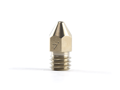 Micro-Swiss Brass Plated Wear Resistant Nozzle for Zortrax 3D Printers - 1.75mm x 0.40mm