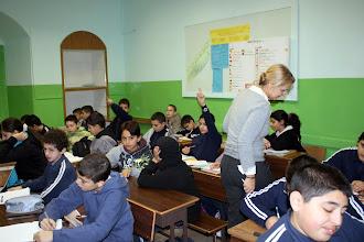 Photo: Observation d'un cours de français à l'école des Frères de Jérusalem