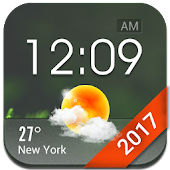 Home screen clock and weather
