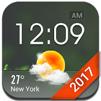 Home screen clock and weather, world weather radar