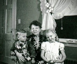 Photo: Me and sister Karen with Tante Dina Stenersen