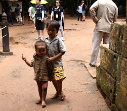 Photo: Year 2 Day 44 -   Couple of Local Lads in the Entrance to Ta Prohm